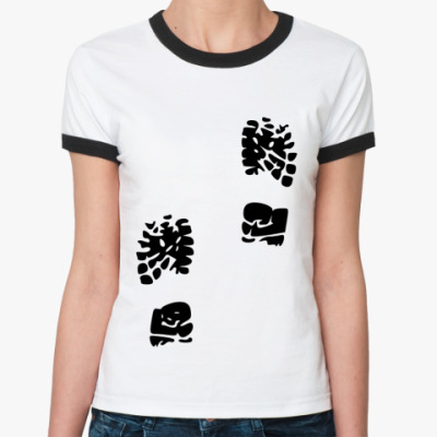 Женская футболка Ringer-T Следы