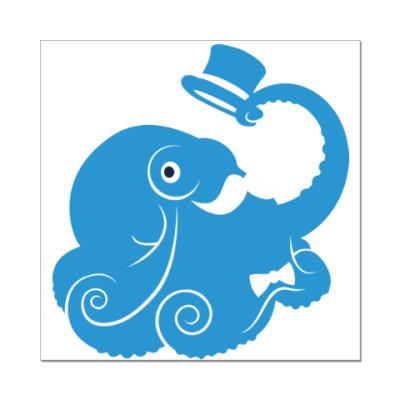 Наклейка (стикер) Сэр осьминог