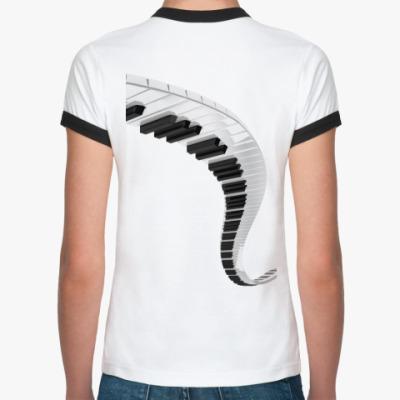 Женская футболка Ringer-T Музыкальный путь