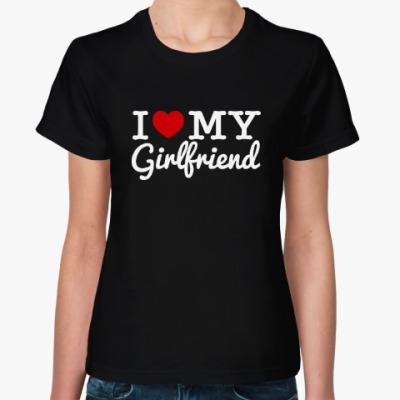 Женская футболка I love my GF