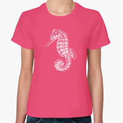 Женская футболка Морской Конек
