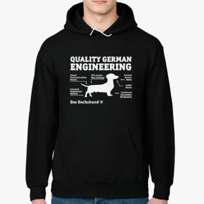 Толстовка худи Quality German Engineering Das Dachshund