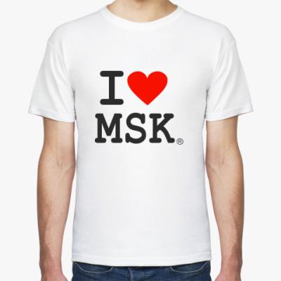 Футболка I love MSK
