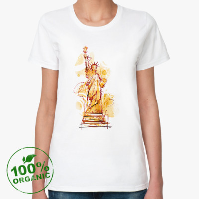 Женская футболка из органик-хлопка Статуя Свободы