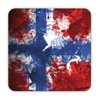 Костер (подставка под кружку) Норвежский флаг