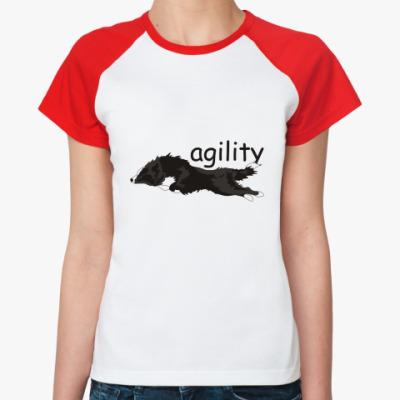 Женская футболка реглан agility