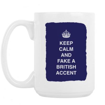Кружка Keep calm and fake a british
