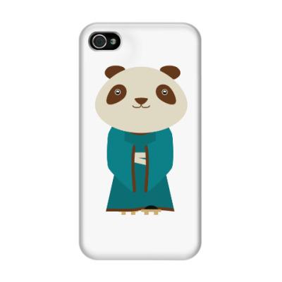 Чехол для iPhone 4/4s Панда в кимоно