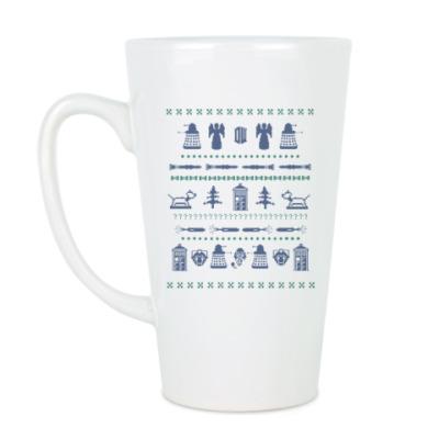 Чашка Латте Doctor Who орнамент