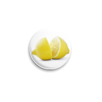 Значок 25мм Лимонные дольки