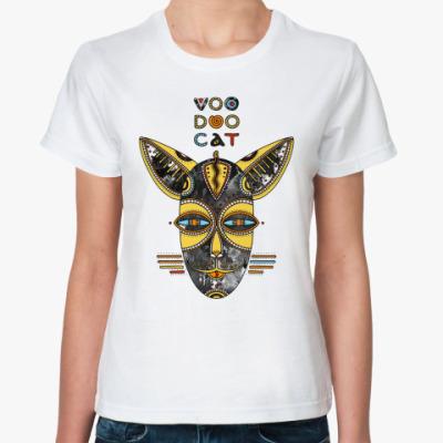 Классическая футболка Вуду кот