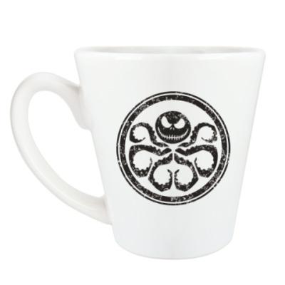 Чашка Латте Осьминог Скеллингтон
