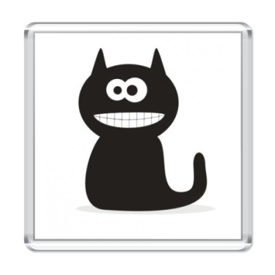 Магнит  Black Cat Smile