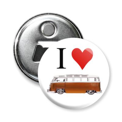 Магнит-открывашка I Love Bus