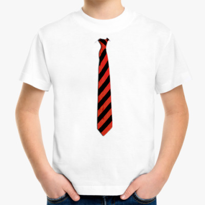 Детская футболка Детская `Галстук в косую`