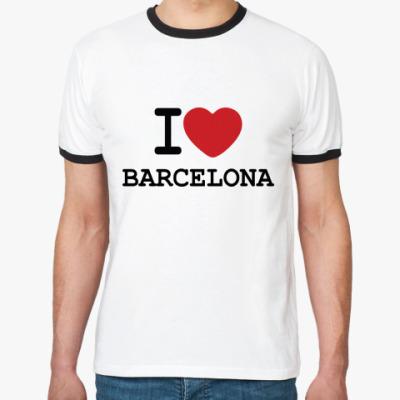 Футболка Ringer-T I love Barcelona