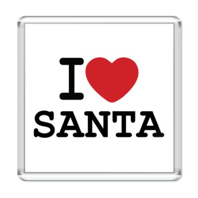 Магнит Новогодний принт I Love Santa