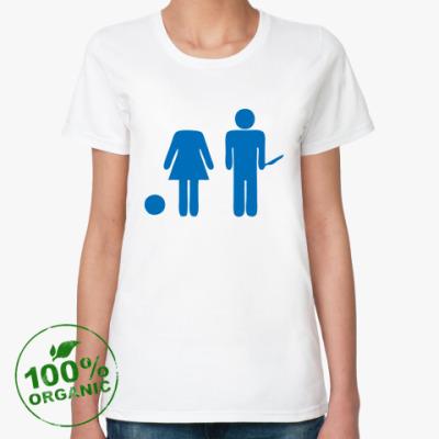 Женская футболка из органик-хлопка  Strange Love