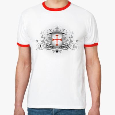 Футболка Ringer-T Орден Тамплиеров