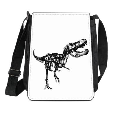 Сумка-планшет Скелет Динозавра. Тираннозавр. Т-Рекс. T-Rex