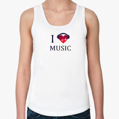 Женская майка любовь к музыке