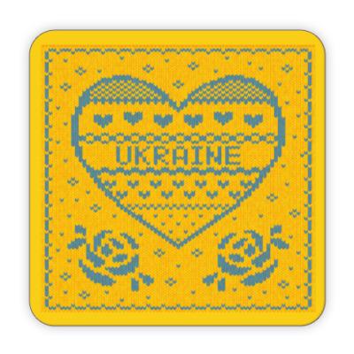 Костер (подставка под кружку) Я люблю Украину