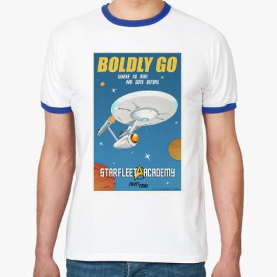 Футболка Ringer-T Star Trek Boldly Go