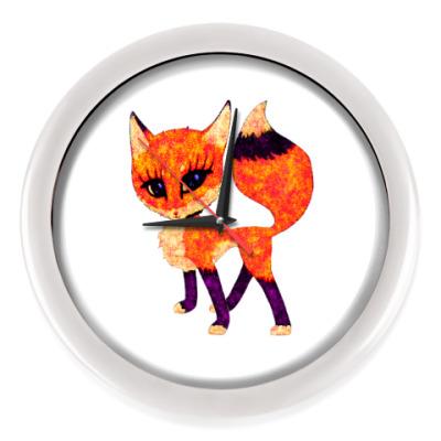 Настенные часы Рыжая лисичка