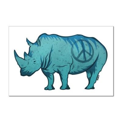 Наклейка (стикер) Носорог