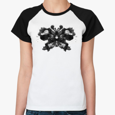 Женская футболка реглан Бабочка