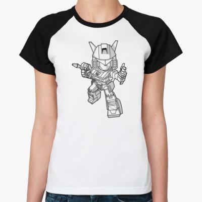 Женская футболка реглан 'Робот'