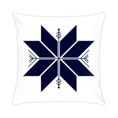 Подушка Абстрактная снежинка