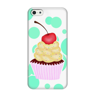 Чехол для iPhone 5/5s Капкейк