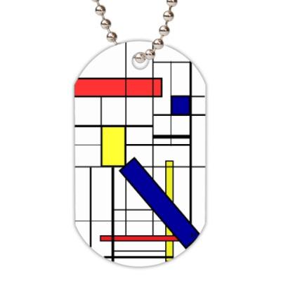 Жетон dog-tag Mondrian's motives