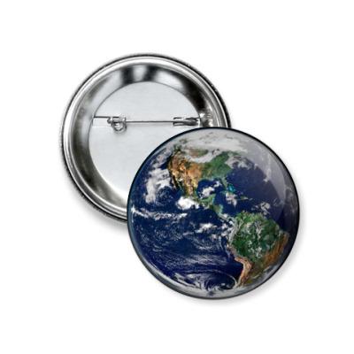 Значок 37мм Земля