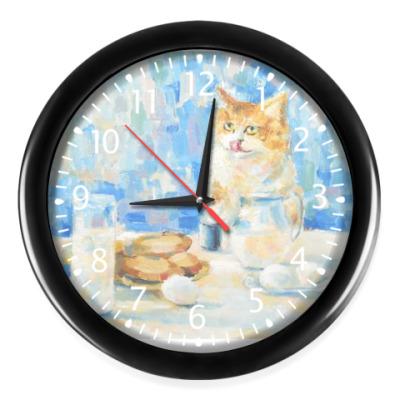 Часы Кот и сметана