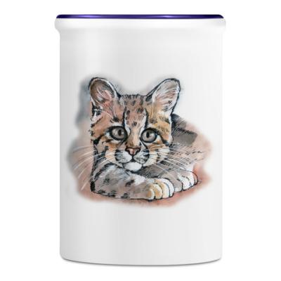 Подставка для ручек и карандашей Котенок кошки Маргай