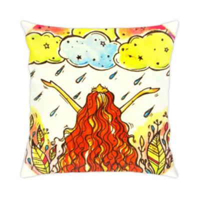 Подушка Дождь