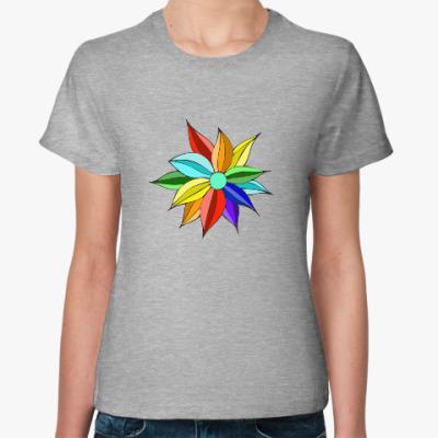 Женская футболка Семицветик