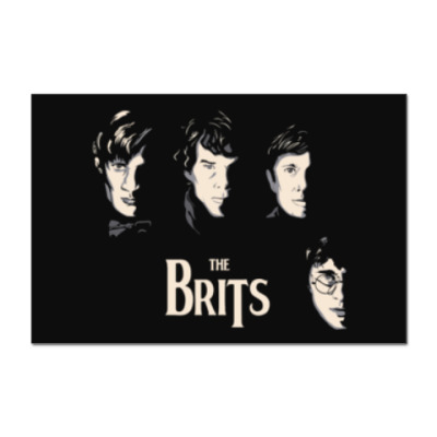 Наклейка (стикер) Британцы