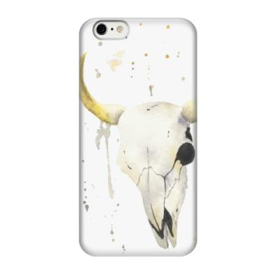 Чехол для iPhone 6/6s Декоративный череп коровы