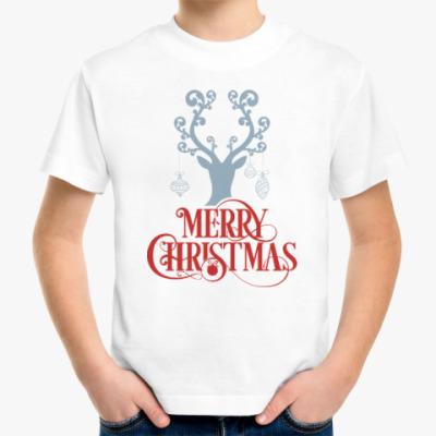 Детская футболка Олени. Любовь. Новый год.