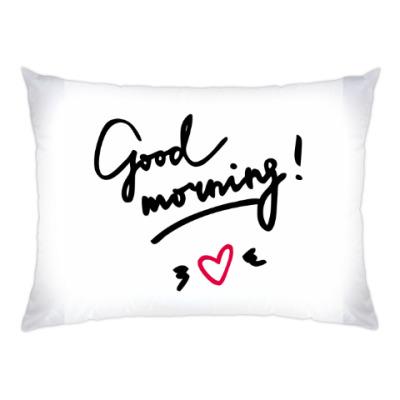 Подушка Good morning/Доброе утро