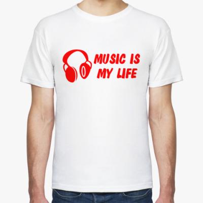 Футболка  I LOVE MUSIC