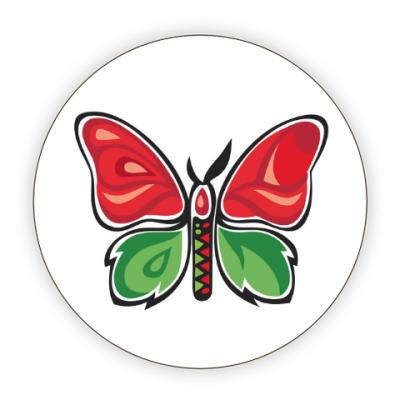 Костер (подставка под кружку) Бабочка-Метаморфоза