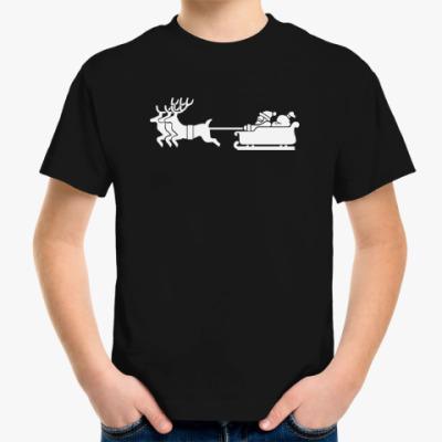 Детская футболка Санта и олени