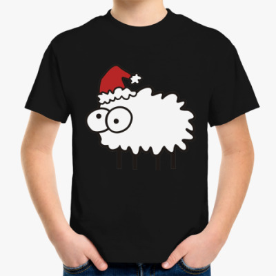 Детская футболка Новогодний бараш