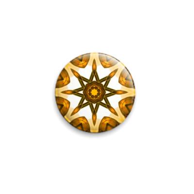 Значок 25мм Золотая звезда
