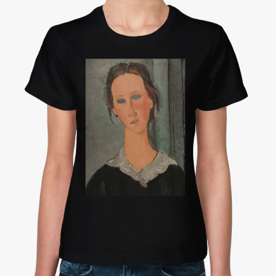 Женская футболка Девушка Модильяни