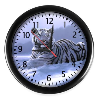 Настенные часы 'Белый Тигр'